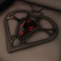 c4d pendant jewel
