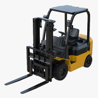 3d forklift lift model