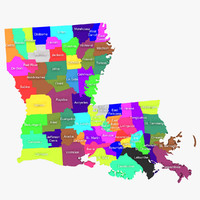 3d louisiana counties model