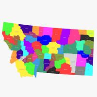3d montana counties