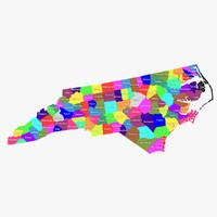 3d north carolina counties