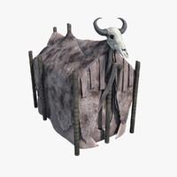 3d model hut