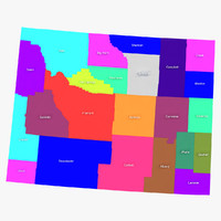 3d model of wyoming counties