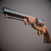 3d colt 1849 pocket revolver model