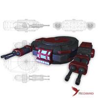 3d sci-fi cannon