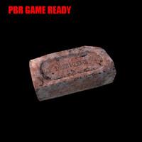 3d model brick block pbr