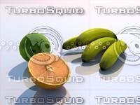 c4d composition fruits breakfast