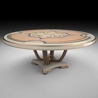 3d italian table model