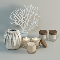 3d decorative apotheke candles model