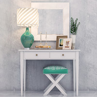 3d vanity dressing table decorative