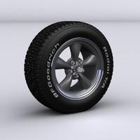 3d model classic alloy wheel