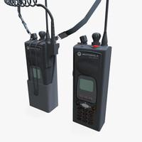 3d model police walkie