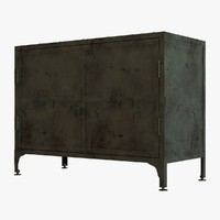 Restoration Hardware INDUSTRIAL TOOL CHEST SMALL SIDEBOARD