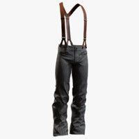 men pants suspenders 3d model