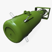 little boy atom bomb 3d model
