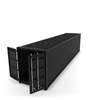 "Cargo container 40"" (High Poly)"