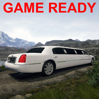 3ds max town car limo