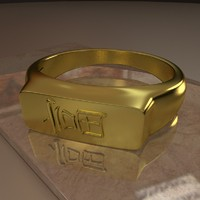 3d ring wealth symbol model
