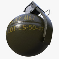 3d m67 frag grenade