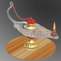 3d model aladdin magic lamp