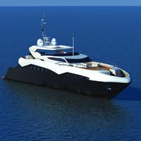 luxary yacht sunseeker predator c4d