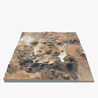 3d obj volcano landscape 2