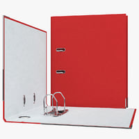3d office folder registrar red model