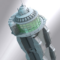 futuristic building science 3d model