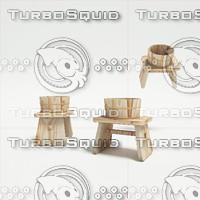 onsen chair 3d model