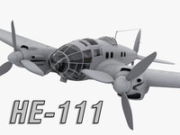 3d model 111 german bomber