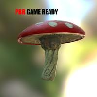 3d model fungus mushroom pbr