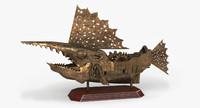 ship statuette steampunk 3d model