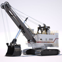 shovel bucyrus 495hr 3d model
