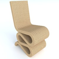 3d model of wiggle chair