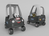 3d max toy police car