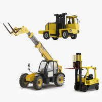 3ds max rigged forklifts