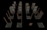 3d model simple dungeon set