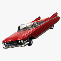 cadillac eldorado biarritz convertible 3d model