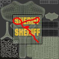 Sheriff Dog Armor Textures