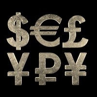 3d model currency symbols