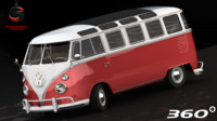 3d volkswagen station wagon luxe model