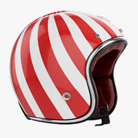 3d model motorcycles helmet ruby