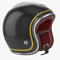 obj motorcycles helmet ruby black