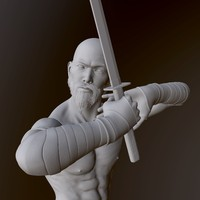 3d warrior sculpted zbrush model