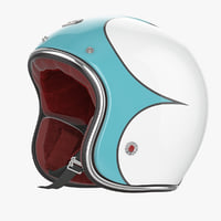 motorcycles helmet ruby blue max