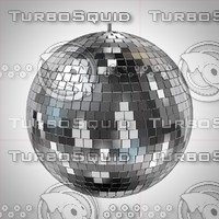 mirrorball discoball disco 3d model