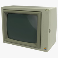 apple monitor ii 3d c4d