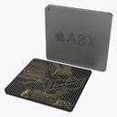 apple mobile chip AX 3D models