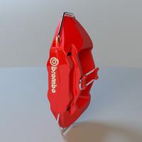 brembo caliper 3d max