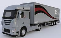 box truck 3d obj